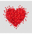 red heart isolated transparent background vector image vector image