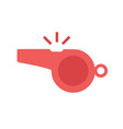 red whistle icon vector image