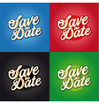 save date sign lettering vector image vector image