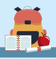 school and education supplies vector image vector image
