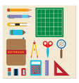 School Stationery Supplies vector image