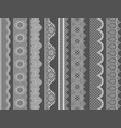 seamless lace ribbon borders vector image vector image