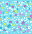 seamless pattern of small flowers vector image vector image