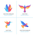 set abstract gradient emblems vector image vector image