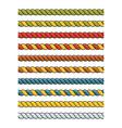 set of bright multicolored decorative lace silk vector image