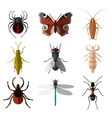 Set of insect flat icons1 vector image vector image