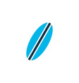 surfboard icon colored symbol premium quality vector image vector image