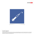 syringe injection icons - blue photo frame vector image