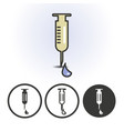 syringe with drop icon vector image vector image