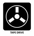 tape drive symbol vector image vector image