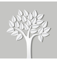 tree made of paper vector image vector image