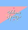 welcome spring poster banner handwritten vector image