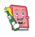 with beer diary mascot cartoon style vector image