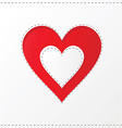 heart cutout poster vector image