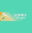 summer beach vacation seaside sand tropical vector image