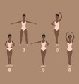 young dancer shows the five basic ballet and vector image
