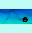 abstract blue gradient wavy minimal background vector image vector image