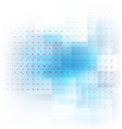 Abstract blue transparent dot pattern background vector image vector image