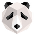 abstract low poly panda icon vector image