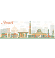 Abstract Muscat Skyline with Color Buildings vector image vector image