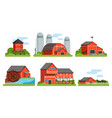 agricultural buildings collection countryside vector image vector image