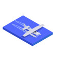 air transport isometric composition vector image vector image