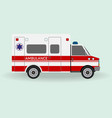 ambulance car emergency medical service vehicle vector image vector image