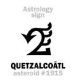 astrology asteroid quetzalcoatl vector image vector image