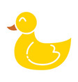 baby rubber duck color icon design sign vector image vector image