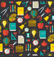 back to school flat seamless pattern vector image vector image