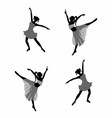 Ballet dancer Girl silhouettes vector image vector image