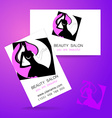 beauty salon logo vector image vector image