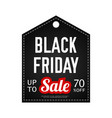 black friday sale design template black vector image