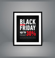 black friday sale poster standing on floor banner vector image vector image
