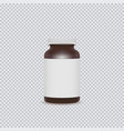 blank brown pills container with blank label vector image