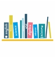 books on the shelve vector image