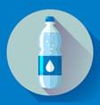 bottle of water icon in flat style on blue vector image vector image