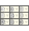 Business Cards set with abstract pattern vector image vector image