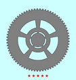 car wheel it is icon vector image vector image