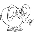 cartoon elephant for coloring book vector image