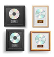 cd disc award set modern ceremony best vector image vector image