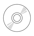 cd over white background vector image vector image