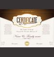 certificate or diploma retro vintage design vector image vector image