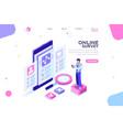 checklist survey banner vector image vector image