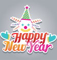 Clown with Happy New Year Text vector image vector image