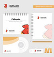 cock logo calendar template cd cover diary and vector image