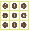 Collection of icons in flat style halloween party vector image vector image