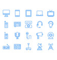communication device icon set vector image vector image