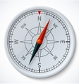 Compass isolated on a white background vector image vector image