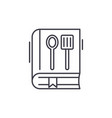 cookbook line icon concept cookbook linear vector image